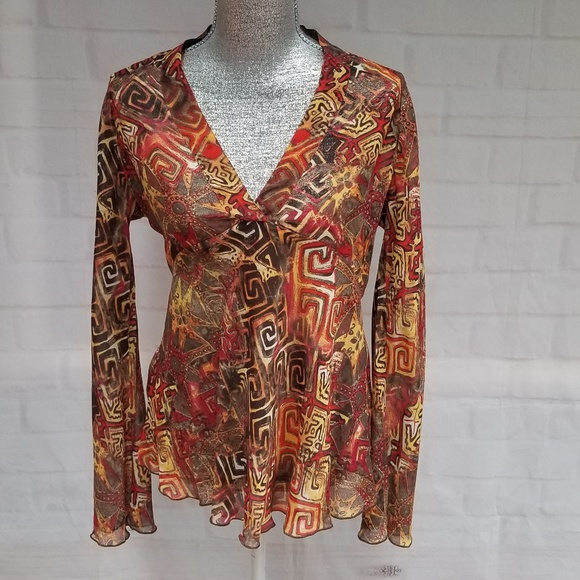 Chico's Tops - CHICO'S  100% SILK SHEER TUNIC TOP